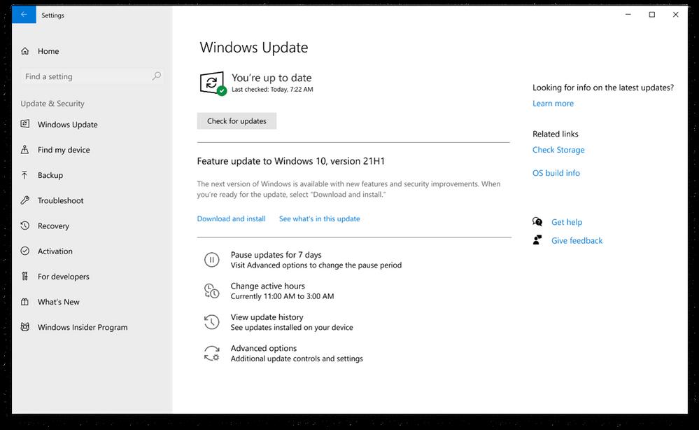 Download Windows 10 21H1 Update