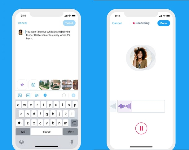 Send Voice Message as DM on Twitter