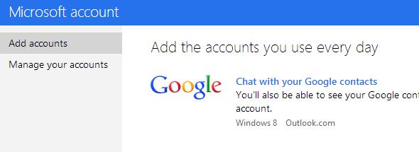 Add Google talk