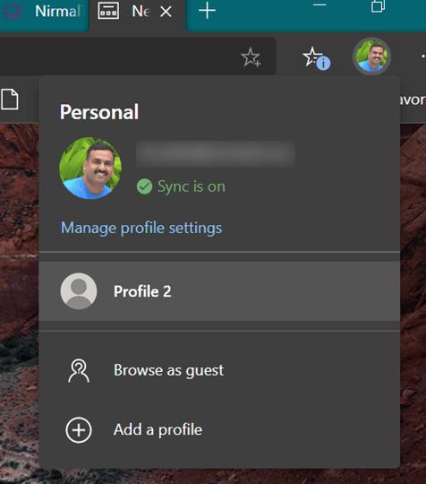 Create Multiple User Profiles in Microsoft Edge