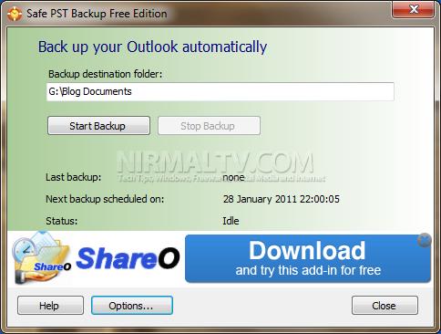 Backup Outlook PST