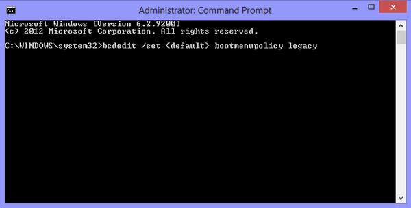 Boot menu legacy enable
