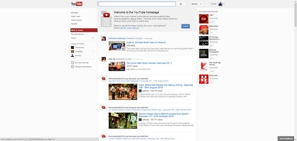 Center aligned YouTube