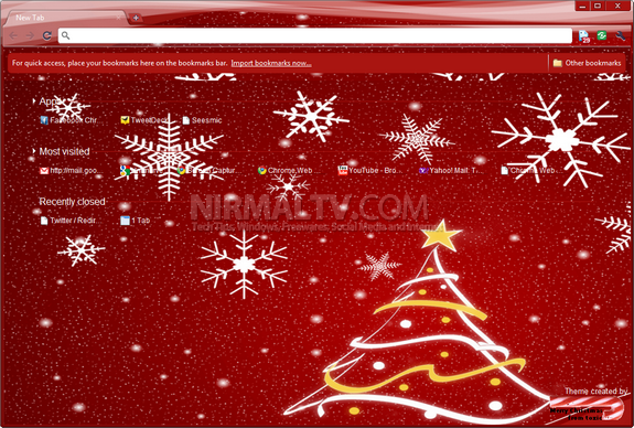 Christmas themes for Chrome 2