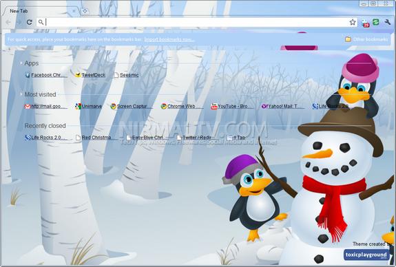 Christmas themes for Chrome 3