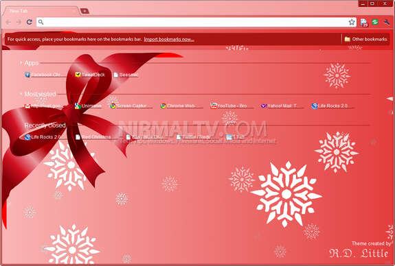 Christmas themes for Chrome 4
