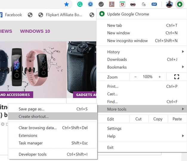 Quickly Open Websites from Windows