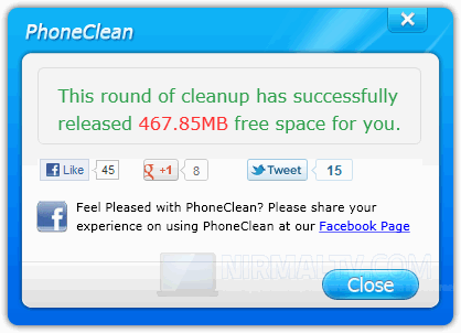 Cleanup complete
