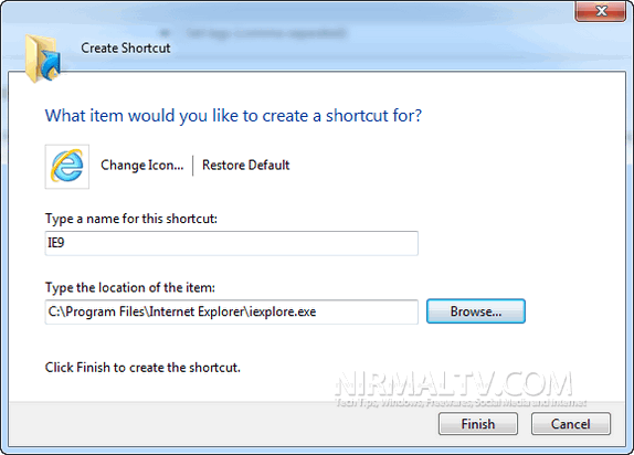 Create Shortcut