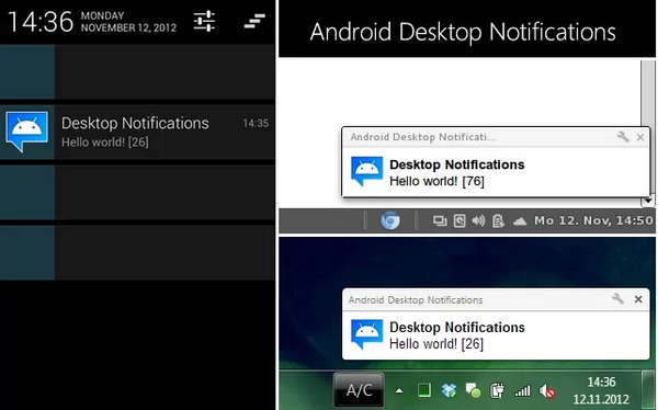 Desktop notifications