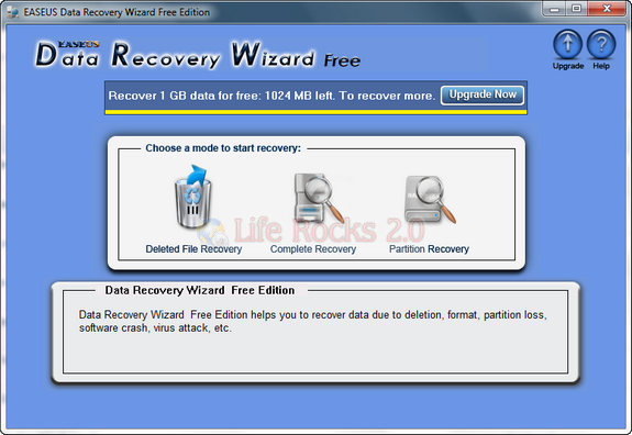 EASEUS Data Recovery Free Edition