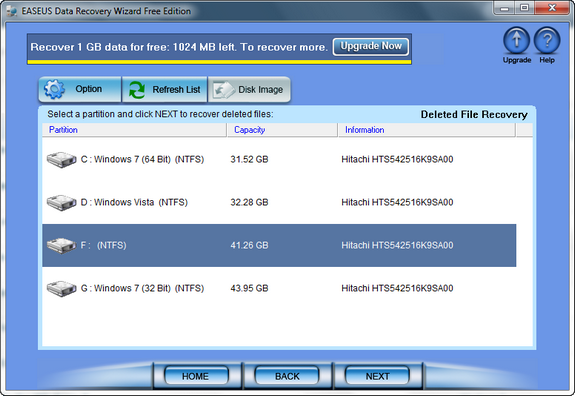 EASEUS Data Recovery Free Edition_1