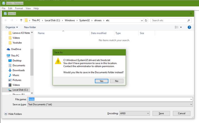 Edit permission host file