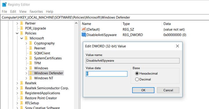 Error 577 Windows Defender
