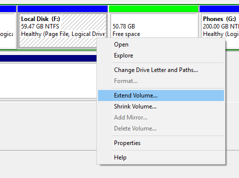 Partition Hard Disk in Windows 10