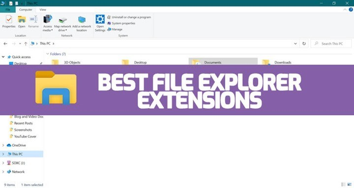 Extensions for Windows 10 File Explorer