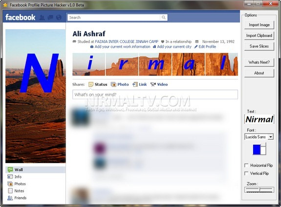 Facebook Profile Image creator
