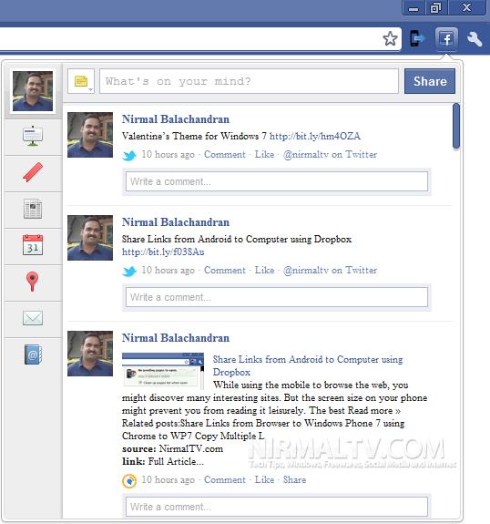 Facebook for Chrome