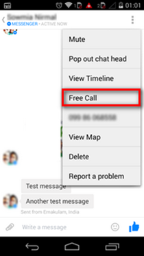 Facebook voice call