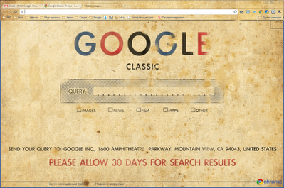 Google Classic theme
