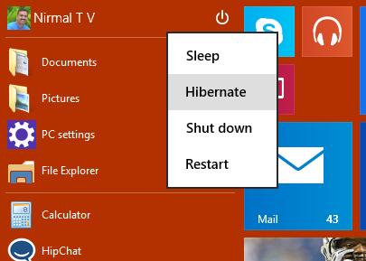 Hibernate option