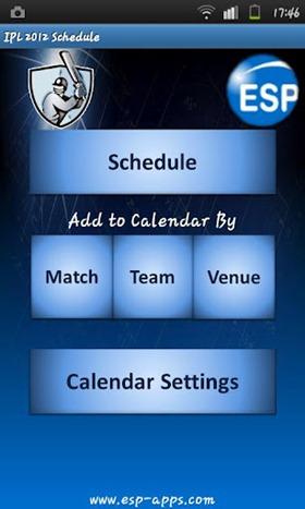 IPL calendar