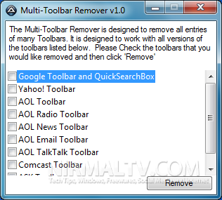 Multi Toolbar remover