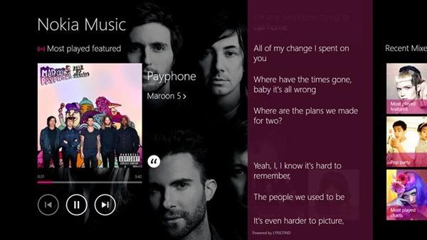 Nokia Music lyrics