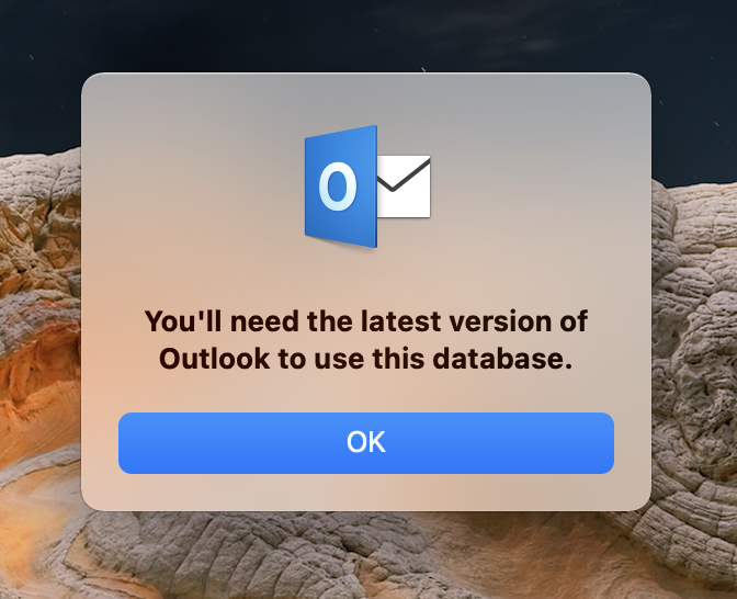 You'll need the latest version of Outlook to use this database
