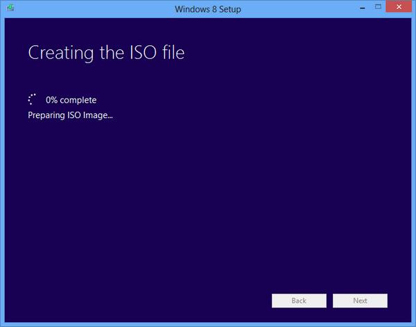 Preparing ISO