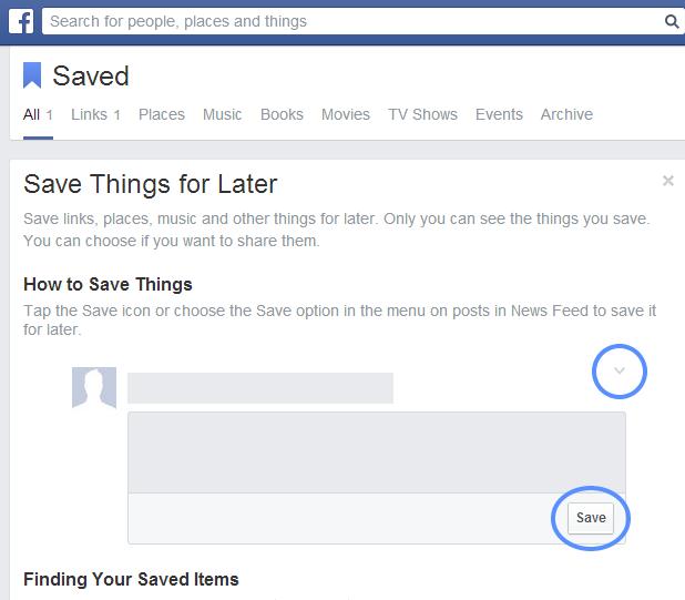 Saved link