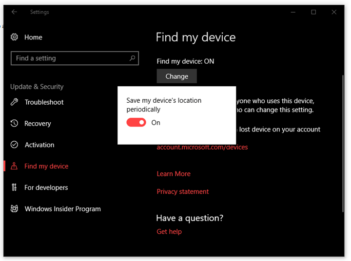 Track your Lost Windows Laptop