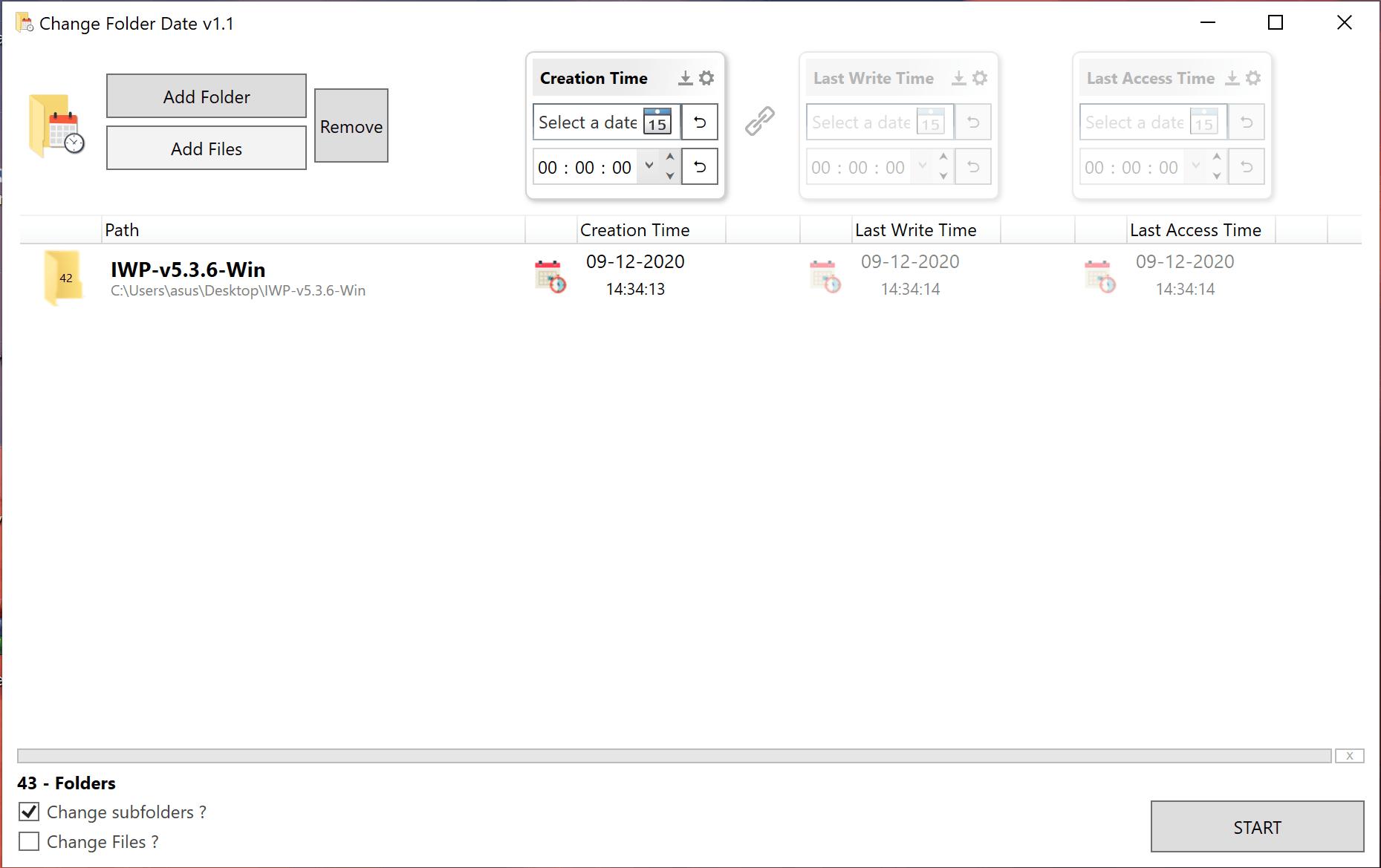 Change Folder Dates in Windows 10