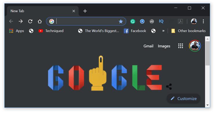 Dark Mode on Chrome for Windows