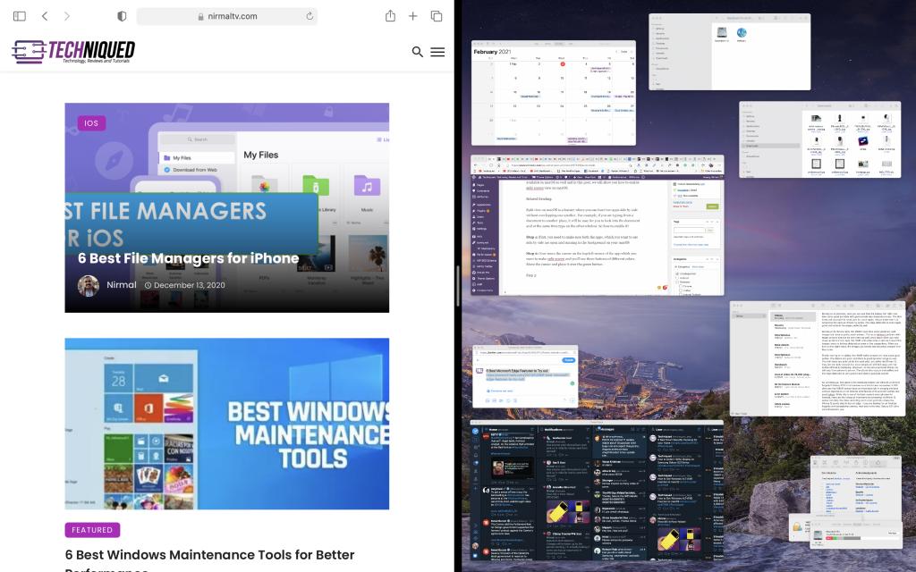 Enable Split Screen View on macOS
