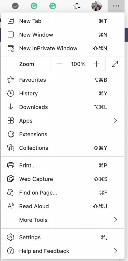 New Tab on Microsoft Edge