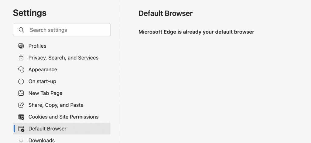 Microsoft Edge as Default Browser
