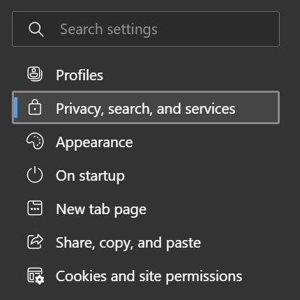Clear Browsing Data on Microsoft Edge
