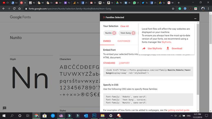 Google Fonts on Windows