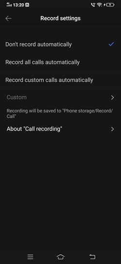 Automatic Call Recording