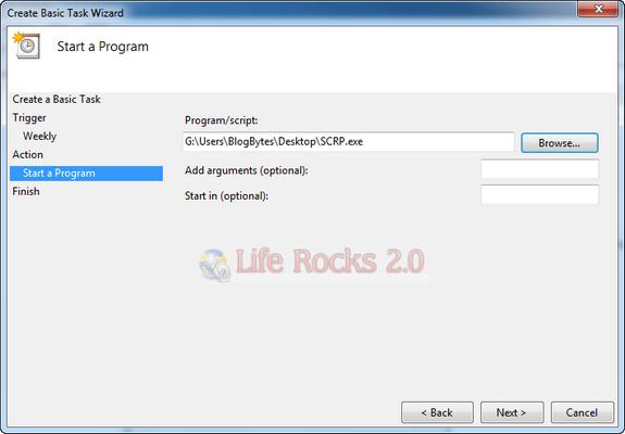 Select the program