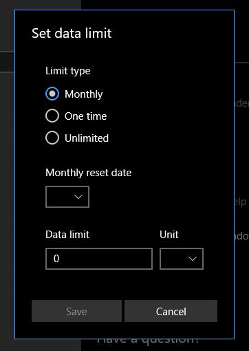Set limit