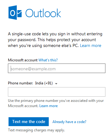 Single sign in code