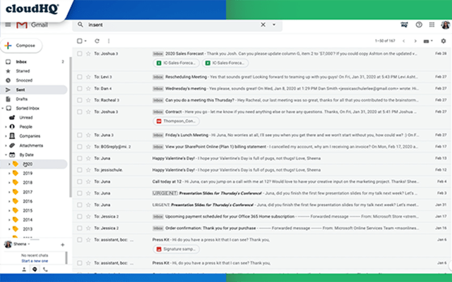 Sort emails in Gmail