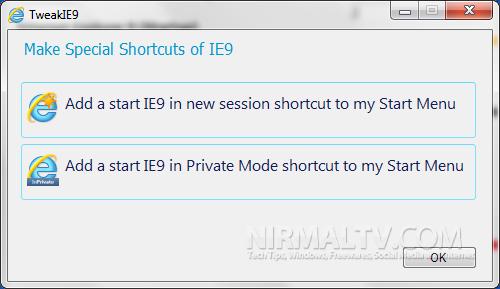 Special shortcuts