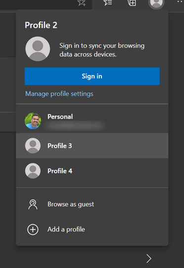 Switch profiles