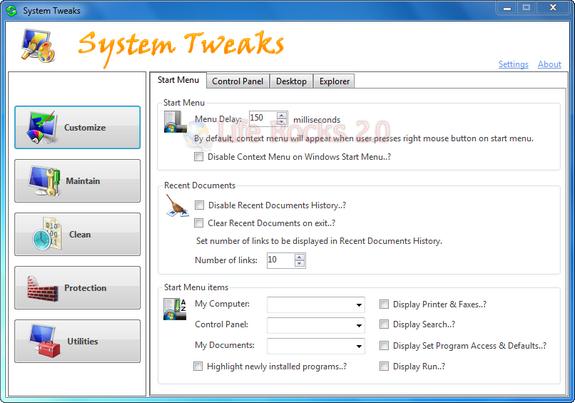 System Tweaks