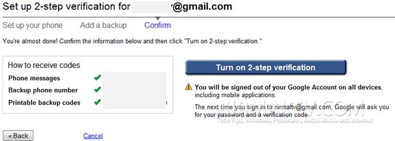 Turn on Verification