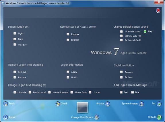 Tweaks for Logon Screen