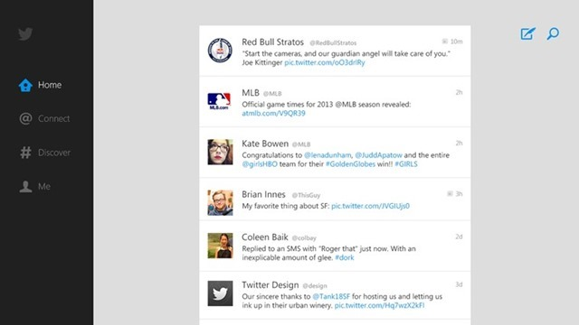 Twitter for windows 8